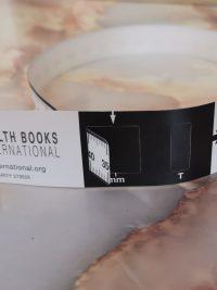 MUAC tape measure black and white